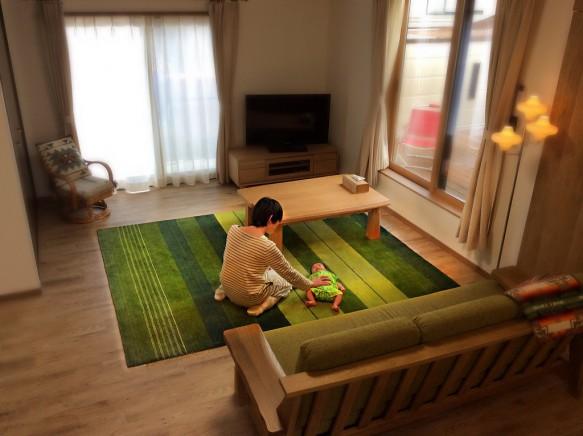 ハグみじゅうたん 展示 天然素材