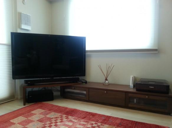 ウォールナット TVボード ターンテーブル