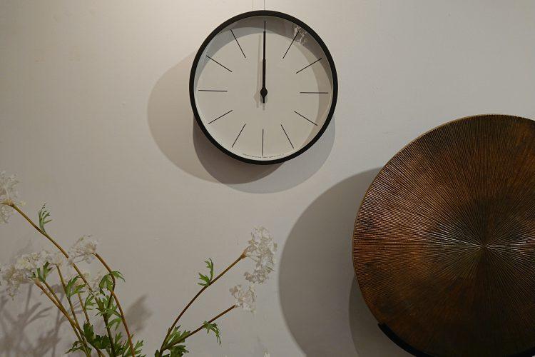 時計 CLOCK 電波時計 スチール