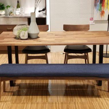 広島 家具 ダイニング テーブル チェア ベンチ 無垢 オシャレ スタイリッシュ スチール脚