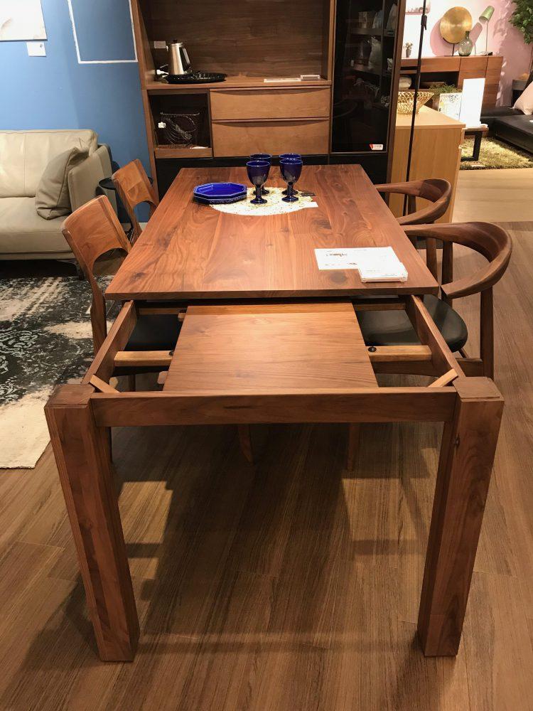 伸長式テーブル/ウォールナット