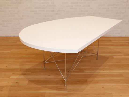 変形テーブルホワイト
