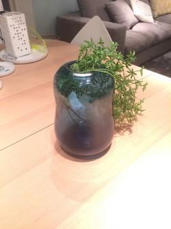 花瓶 ブルー ガラス