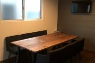 かっこいい ウォルナット 無垢テーブル