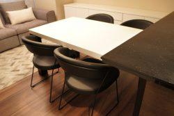 ダイニングテーブル オシャレ モダン ホワイト ツートンカラー