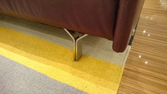 Natuzzi sofa Tenore 088 2.5P 本革 脚 レッグ スチール