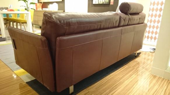 Natuzzi sofa Tenore 088 2.5P 本革 背面 アーム 斜め