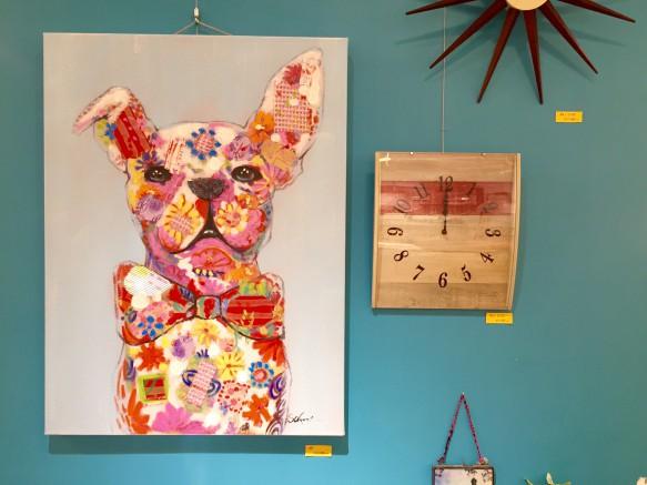 アート ブルドッグ リビングハウス ノルディコ livinghouse カラフル アート 動物モチーフ