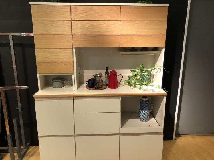 ナチュラル キッチンボード 食器棚 かわいい 木 優しい