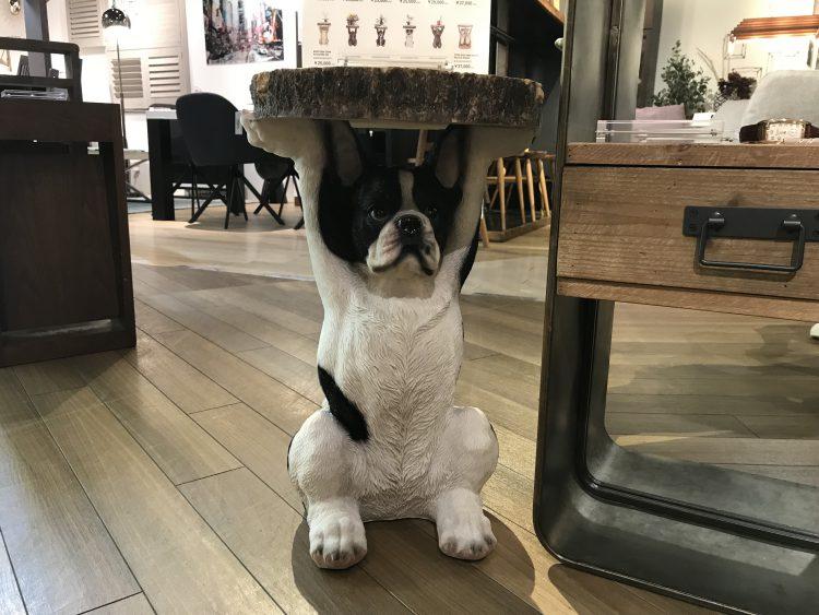 アニマルサイドテーブル 犬 KARE フレブル