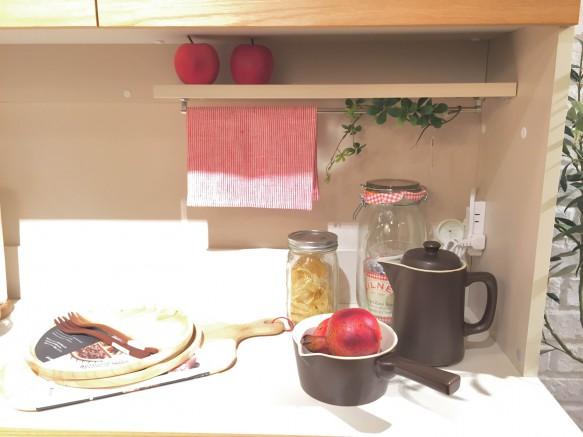 リビングハウス ノルディコ ららぽーと キッチンボード 無垢 可愛い 北欧 かわいい ナチュラル 低い 小柄 フラップアップ 飾り棚 おしゃれ