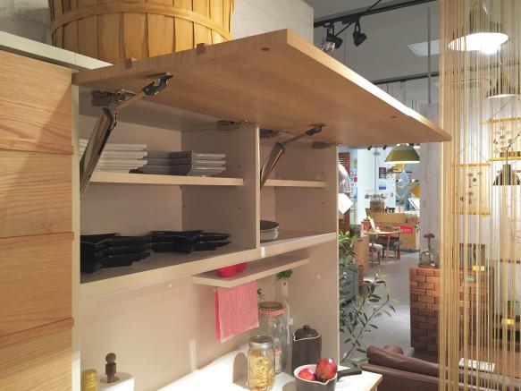リビングハウス ノルディコ ららぽーと キッチンボード 無垢 可愛い 北欧 かわいい ナチュラル 低い 小柄 フラップアップ