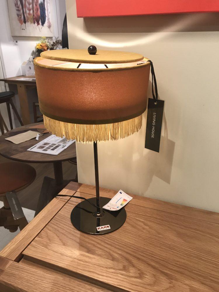 テーブルランプ ベロア