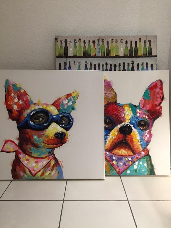 犬 アート カラフル