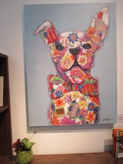 アート 犬 ブルドック