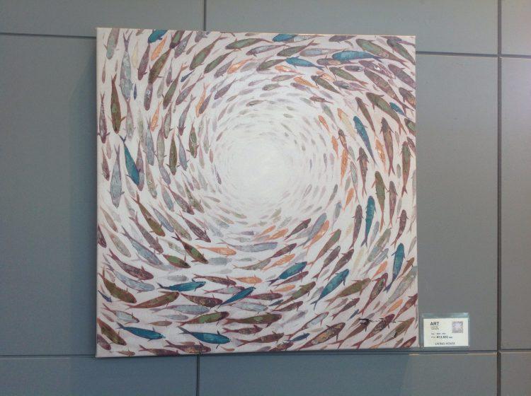 リビングハウス オリジナルアート フラミンゴ アート