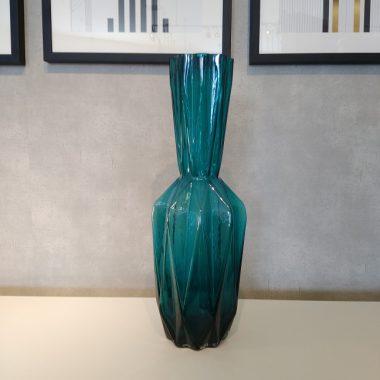 フラワーベース ブルー ガラス KARE