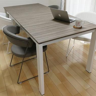 ダイニングテーブル バロン 伸長式 グレー カリガリス モダン