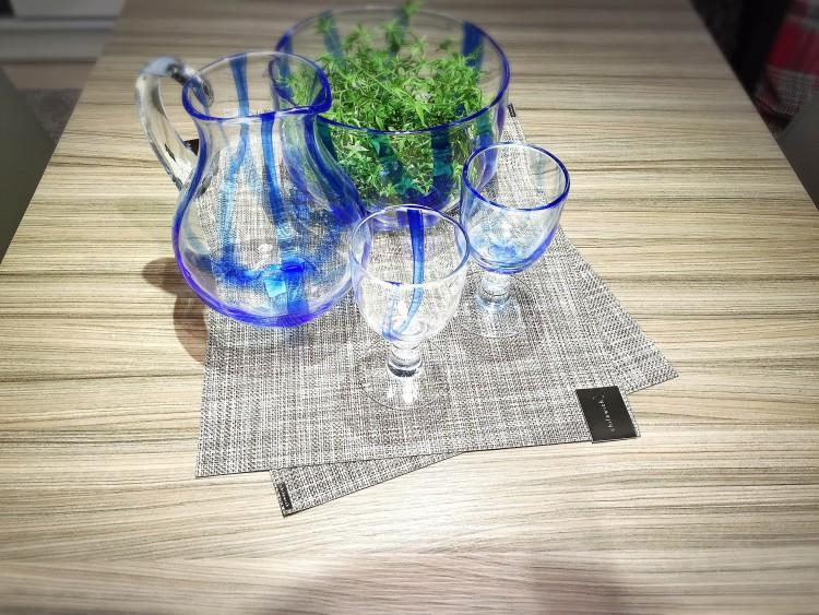 ガラス ブルー グレー
