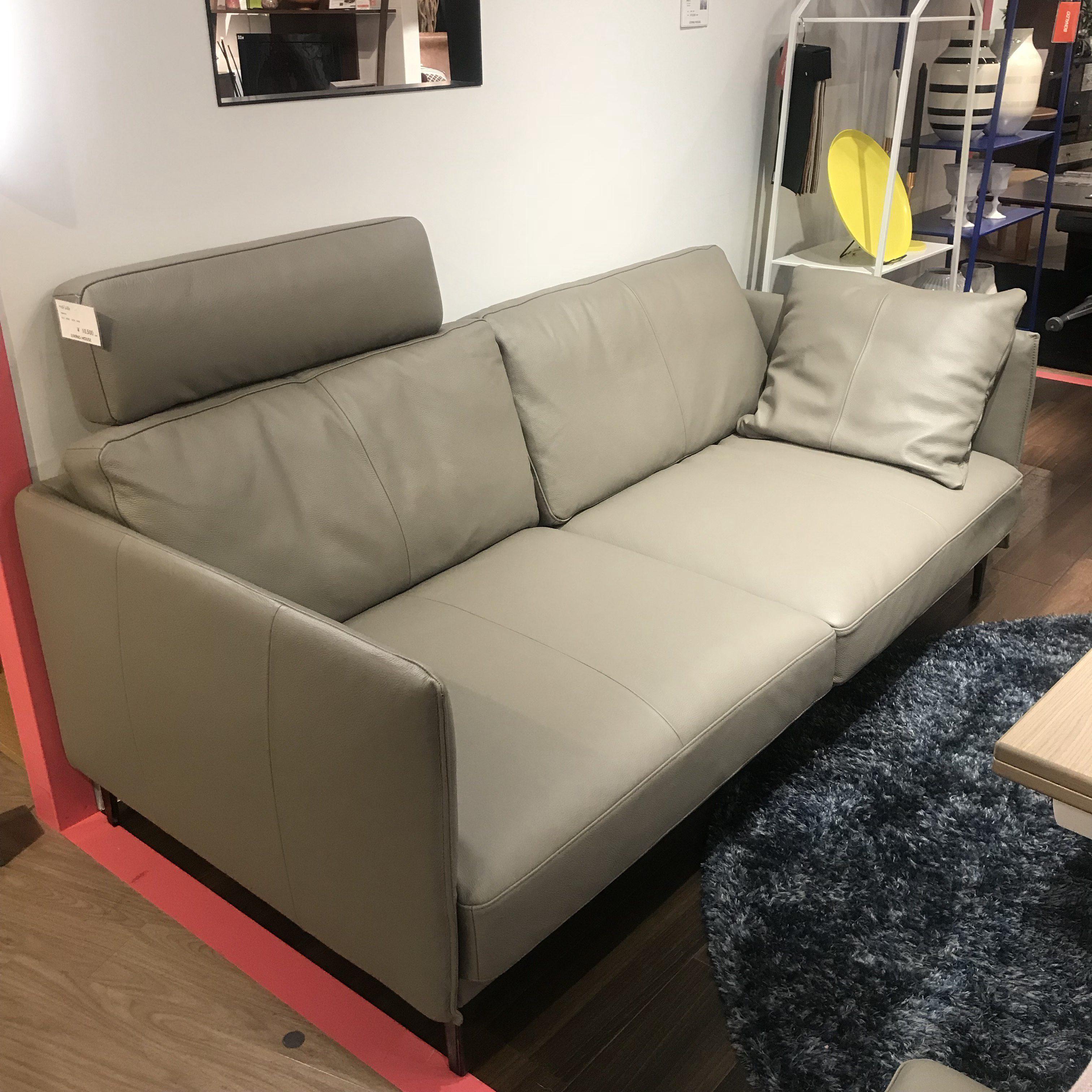 新色のグレーレザーソファが入荷しました☆ | おしゃれな家具なら