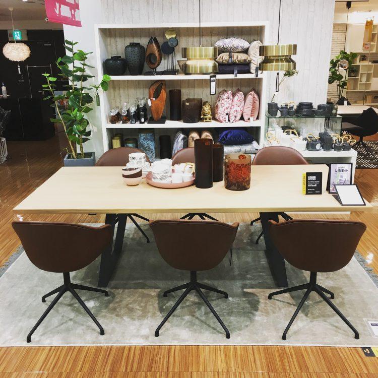 広島 そごう 家具 インテリア おしゃれ スタイリッシュ シンプル モダン 北欧 ダイニング テーブル チェア 椅子 ナチュラル BoConcept ボーコンセプト
