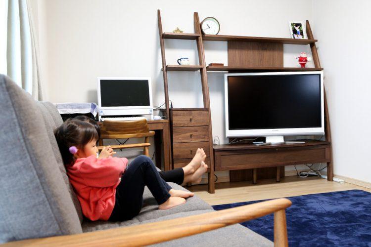 リビング ウォールナット テレビボード