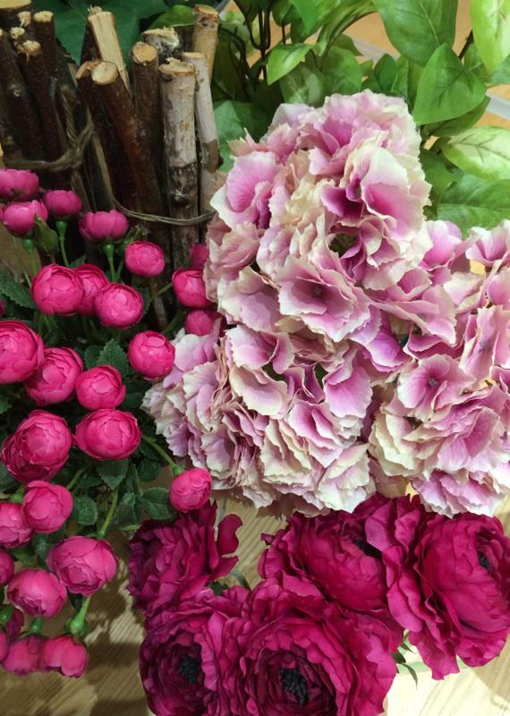 造花 ピンク 紫陽花