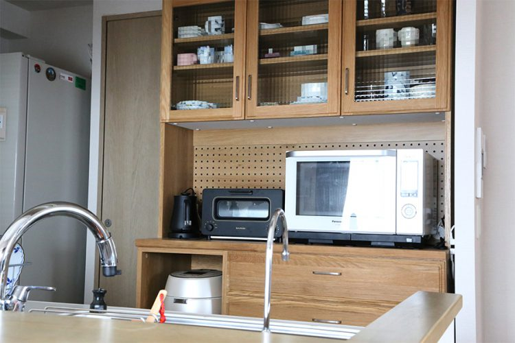 キッチンボード 食器棚 オシャレ ナチュラル オーク