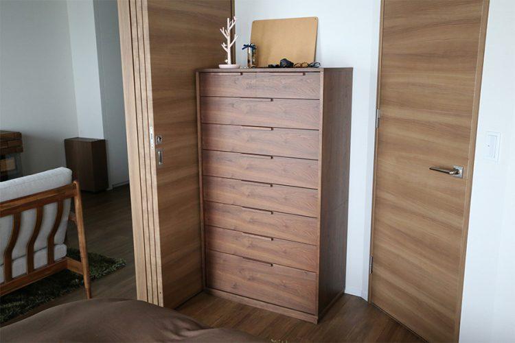 寝室 チェスト ウォールナット モダン オシャレ