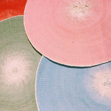 ランチョンマット/彩り/食卓/円形