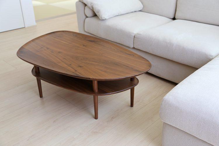 変形テーブル ウォールナット