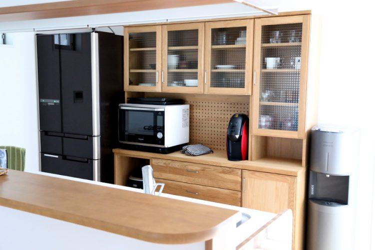 食器棚 キッチンボード ナチュラル オーク材