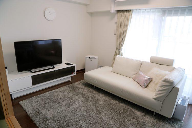リビング ホワイト ソファ テレビボード