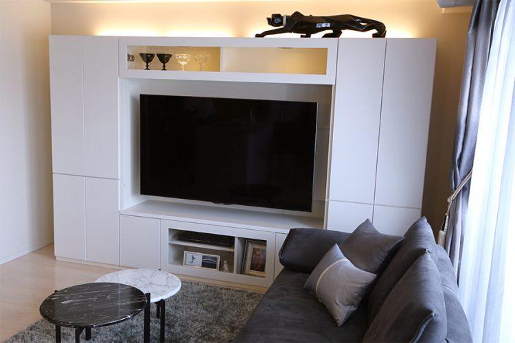 テレビボードユニット ホワイト