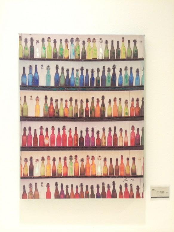 油絵 ボトル