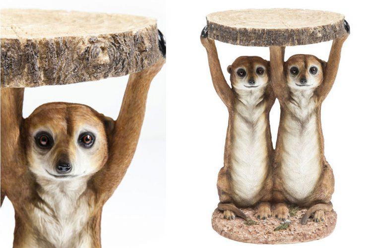 Side Table Animal Meerkat