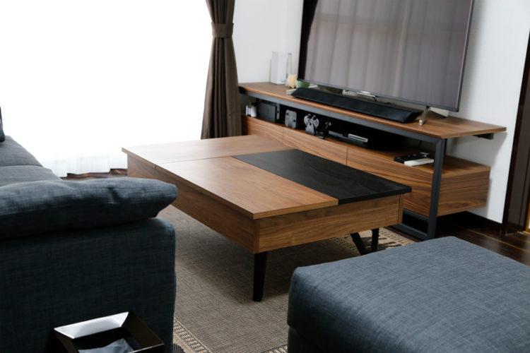 ローテーブル オシャレ ウォールナット 機能性
