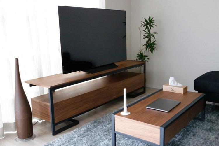 テレビボード ローテーブル ウォールナット リビング シンプル オシャレ