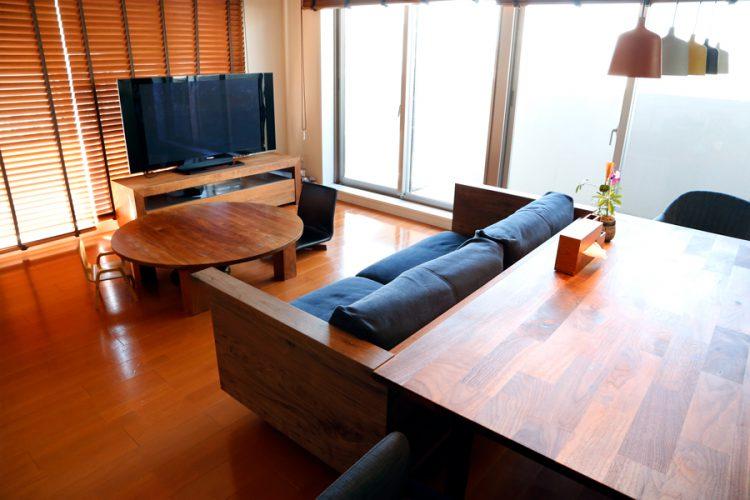 ダイニング ウォールナット テーブル ソファ オシャレ