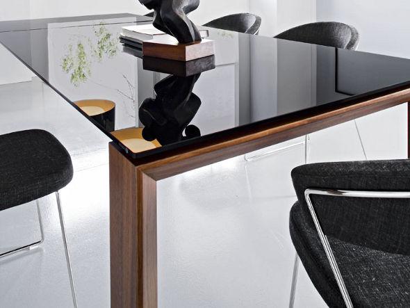 ダイニングテーブル 伸長式 ガラステーブル