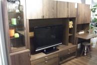 ウォールナット壁面TVボード