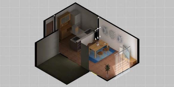 ラグ 3Dシュミレーション