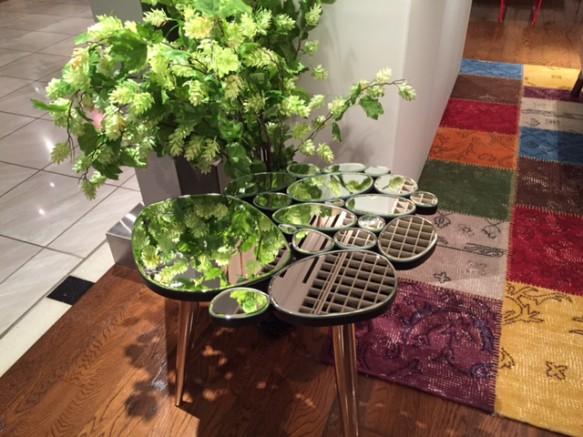 ガラス サイドテーブル