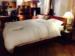シンプル ベッド ウォールナット