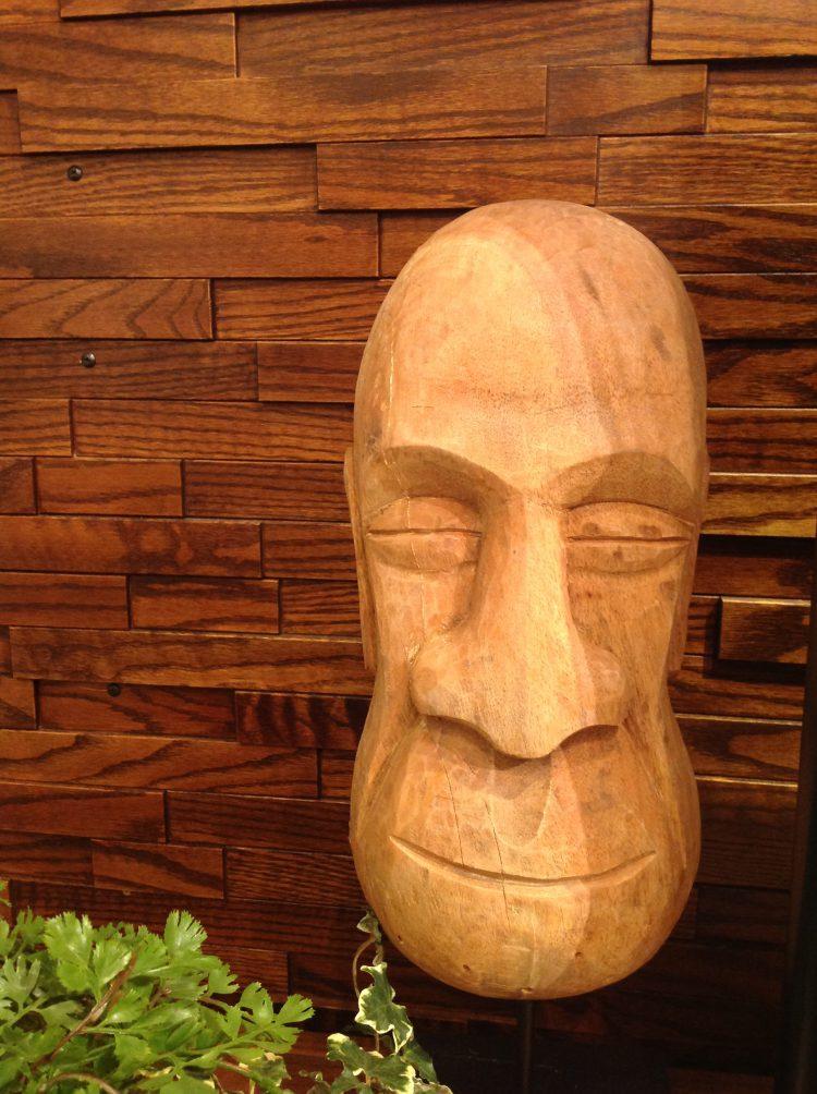 顔 KARE インテリア 仏 祖父 木 木材 木彫り サル 雑貨 置物 装飾