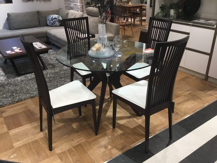 ダイニングテーブル ガラステーブル モダン 高級感