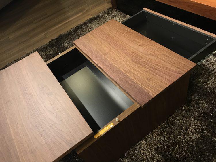 リビングテーブル 機能性抜群 ウォールナット リビングハウス かわいい 小さい 便利