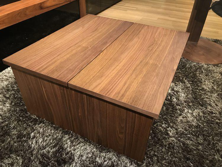 ビングテーブル 機能性抜群 ウォールナット リビングハウス かわいい 小さい 便利