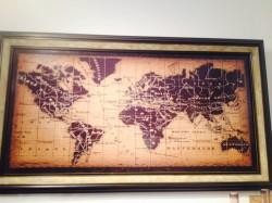 世界地図アート