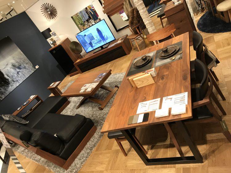 リビングハウス ダイニングテーブル 家具 インテリア LIVING HOUSE スチール脚 テーブル 天然木